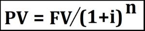 valor presente através da formula para calcular juros compostos