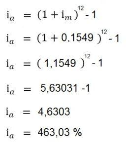 converter taxa de juros composto - formula