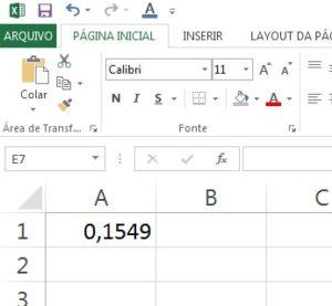 juros do cartão no Excel parte 1