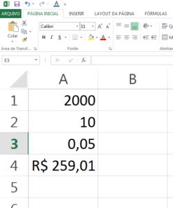 Como calcular a parcela de um financiamento no Excel