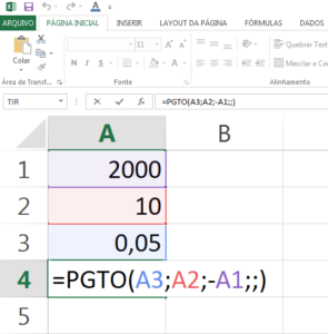 Como calcular a parcela de um financiamento no Excel