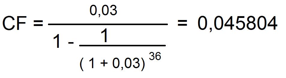 Como calcular a parcela de um financiamento utilizando o Coeficiente de Financiamento
