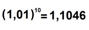 fator de multiplicação de juros compostos