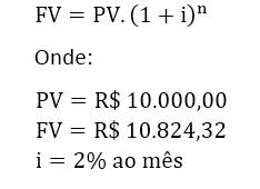 fórmula juros compostos