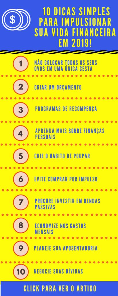 dicas finanças pessoais para 2019