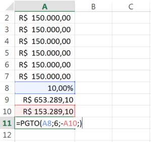 VPL anualizado no Excel