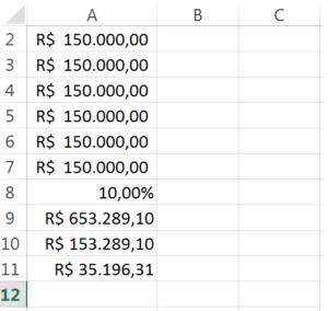 VPL anualizado Excel