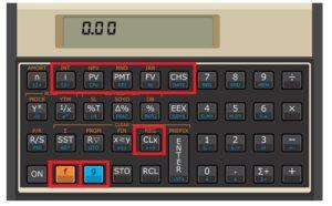 Teclas para calcular o VPL e a TIR na HP 12c