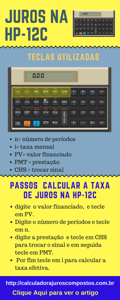 taxa de juros na hp-12c