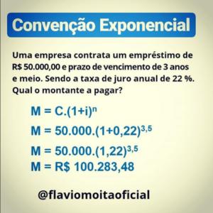 Matemática financeira - exemplo de convenção exponencial