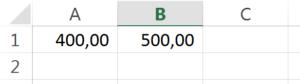 calcular porcentagem no excel passo 1