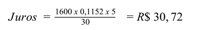 exercício resolvido juros cheque especial parte 4