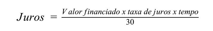 fórmula para calcular os juro do cheque especial