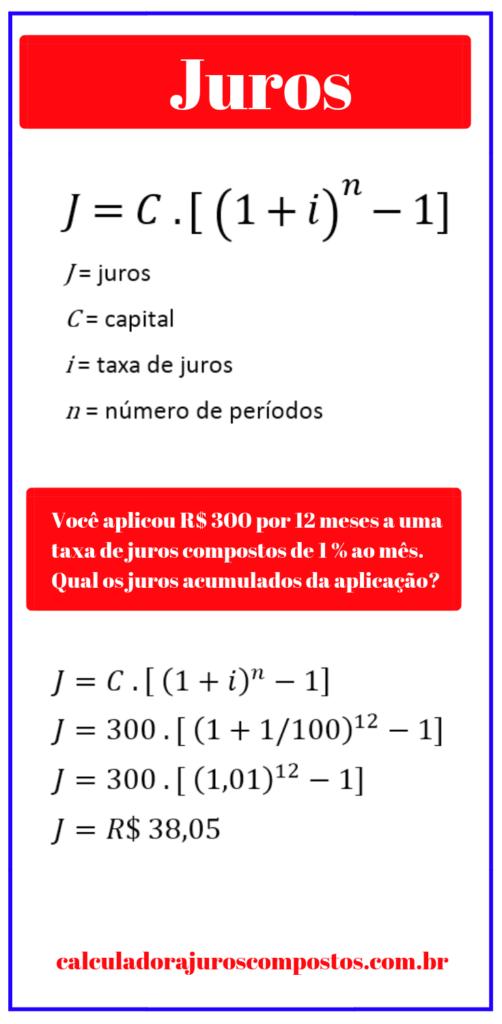 juros compostos acumulados - matemática financeira