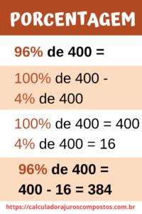 Exemplo de porcentagem matemática