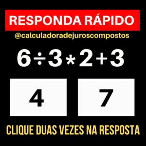 desafio de matemática básica