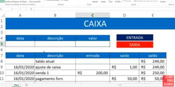 Como montar planilha de fluxo de caixa no Excel – Rápido e Prática